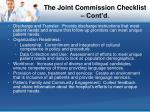 the joint commission checklist cont d