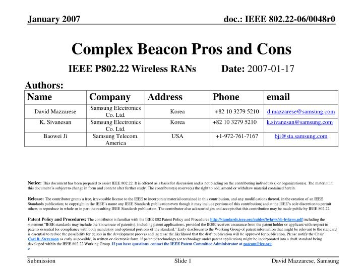 complex beaco n pros and cons n.