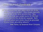 some numug feedback