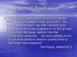 some numug feedback17