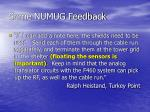 some numug feedback19