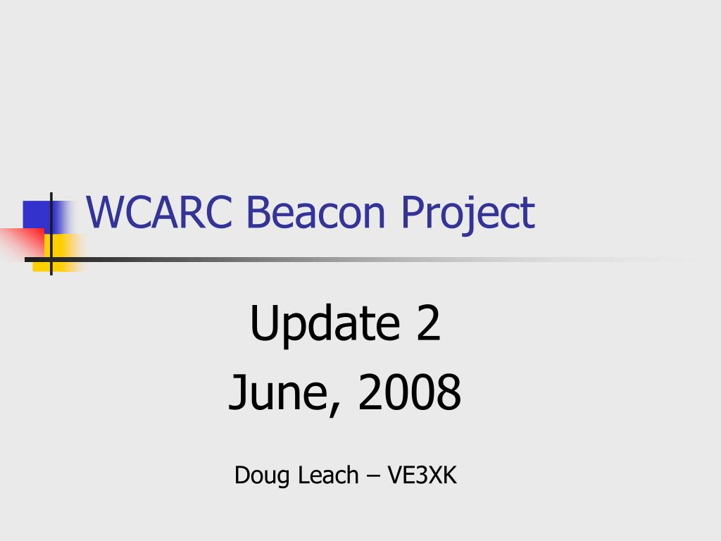 wcarc beacon project l.