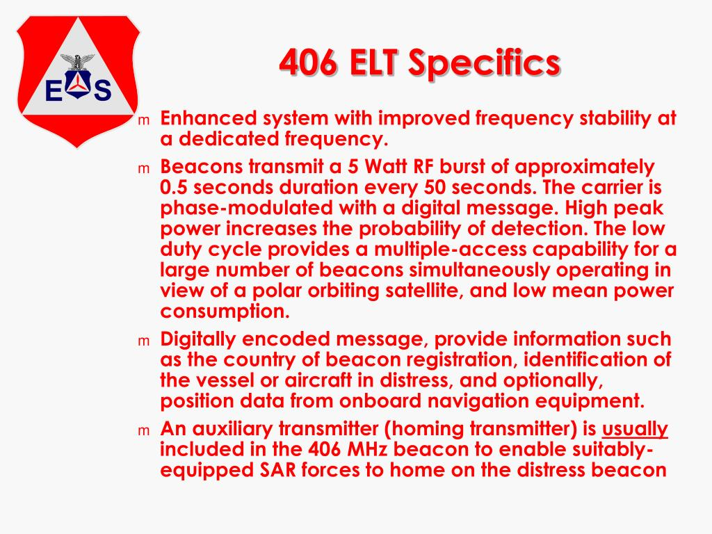 406 ELT Specifics