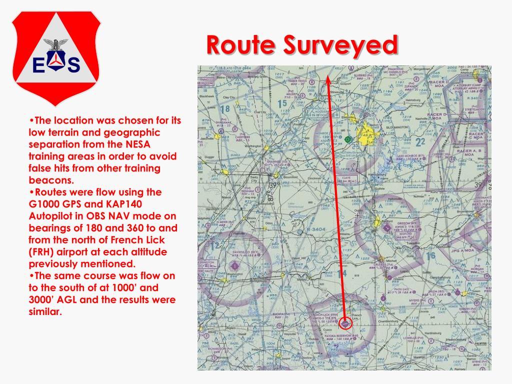 Route Surveyed
