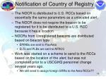 notification of country of registry14