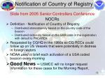 notification of country of registry15