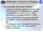notification of country of registry16