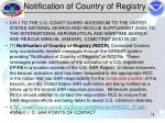 notification of country of registry18