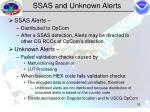 ssas and unknown alerts