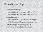 fecundity and age