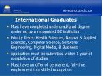 international graduates