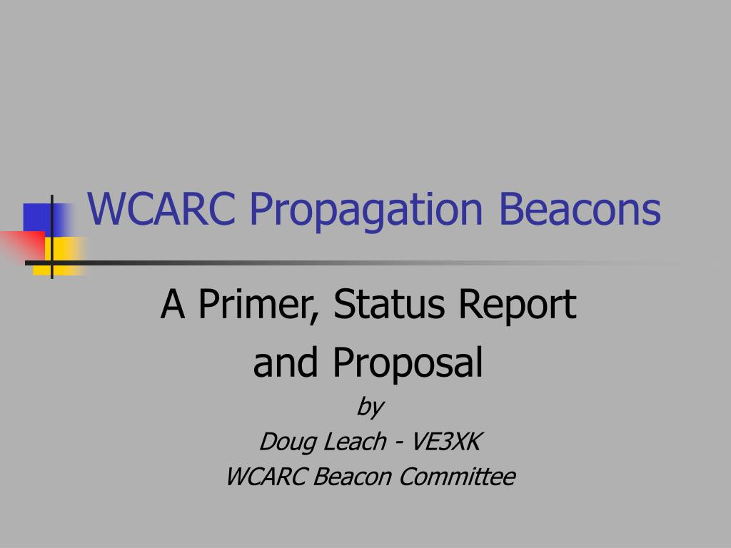 wcarc propagation beacons l.