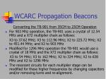 wcarc propagation beacons21
