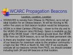 wcarc propagation beacons32