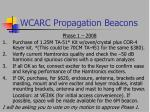 wcarc propagation beacons35