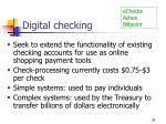 digital checking