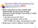 e lectronic b illing p resentment and p ayment systems ebpp