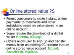 online stored value ps