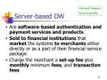 server based dw