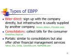 types of ebpp