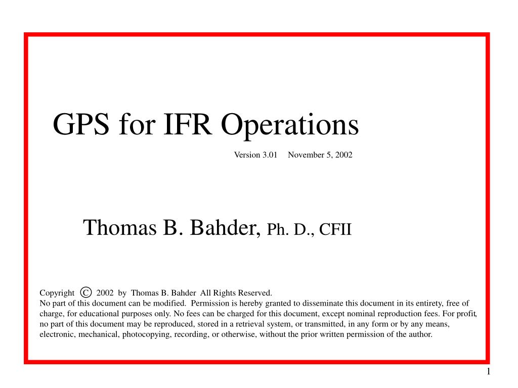 gps for ifr operations l.