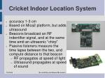 cricket indoor location system