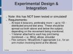 experimental design integration