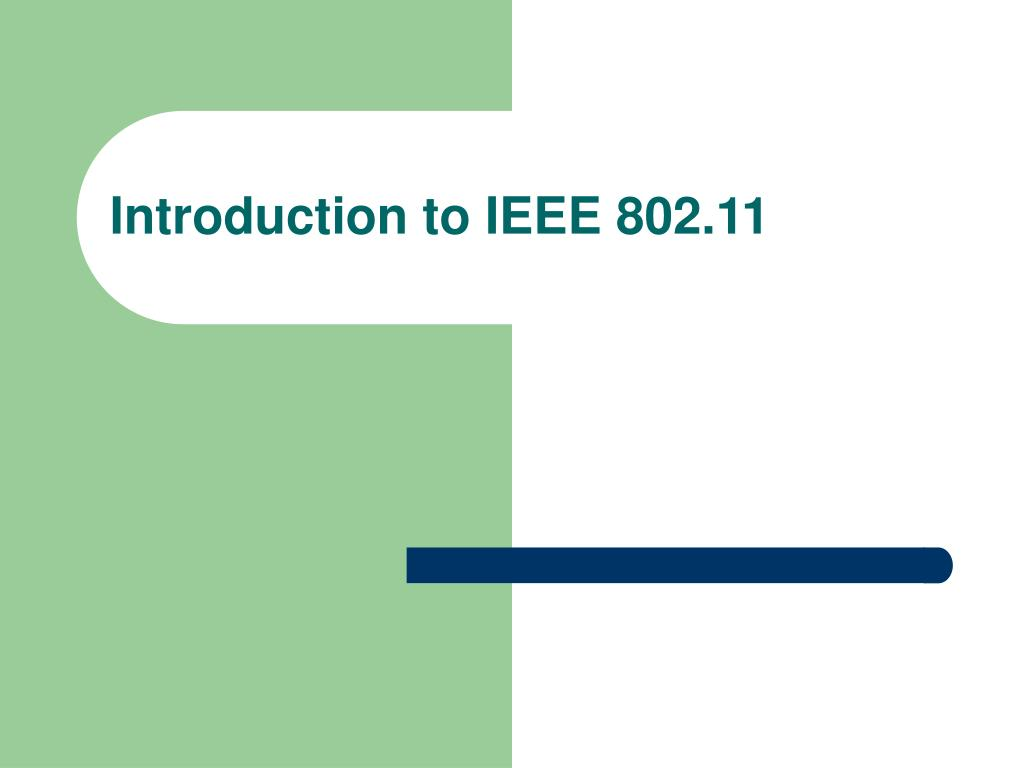 introduction to ieee 802 11 l.