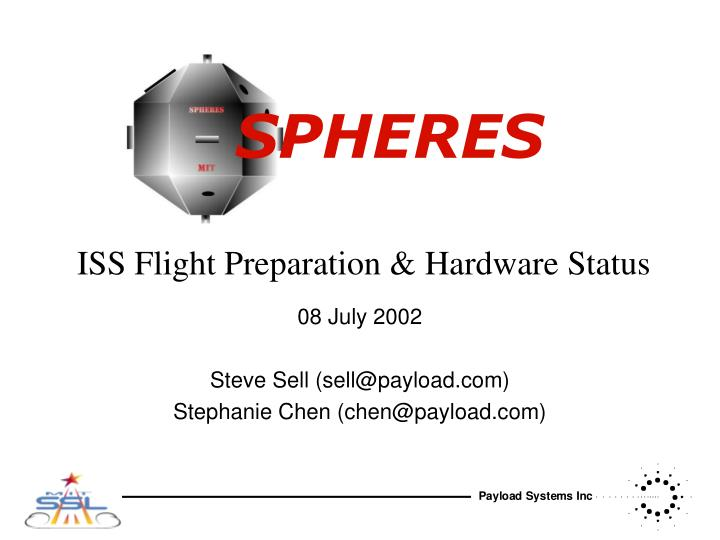 iss flight preparation hardware status n.