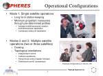 operational configurations