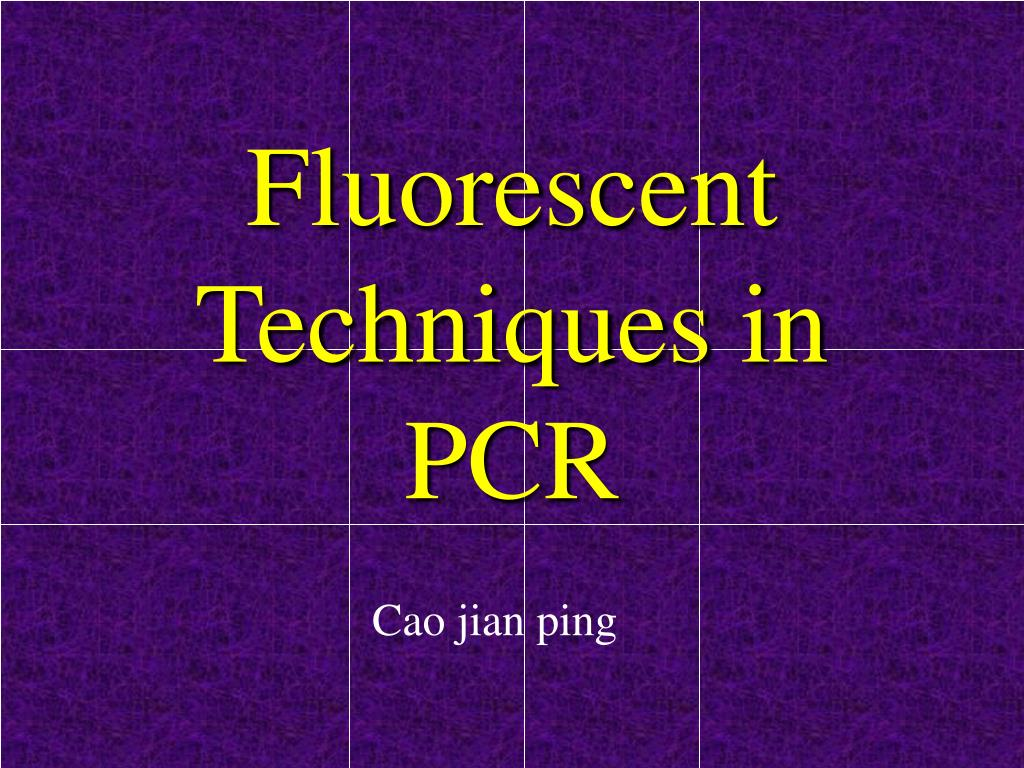 fluorescent techniques in pcr l.