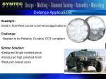 defense applications