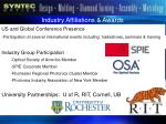 industry affiliations awards