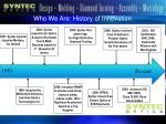 who we are history of innovation