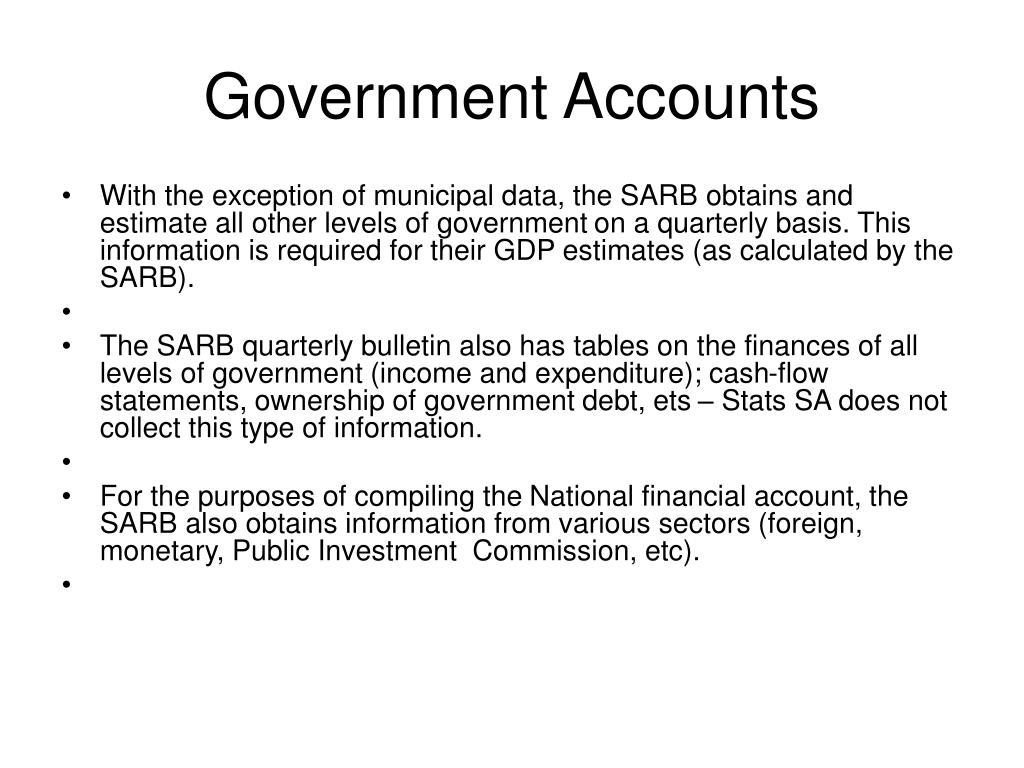 Government Accounts