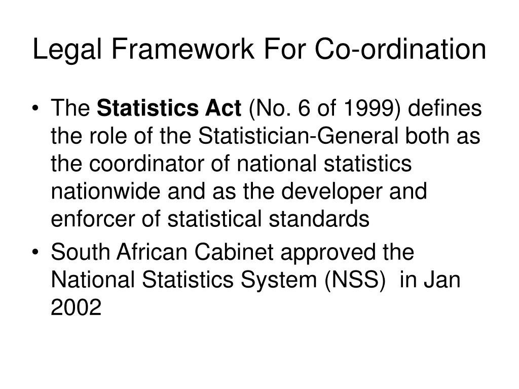 Legal Framework For Co-ordination