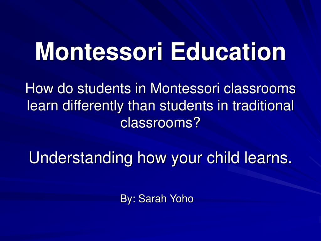 montessori education l.