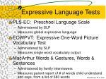 expressive language tests