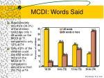 mcdi words said