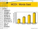 mcdi words said59
