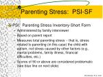 parenting stress psi sf63