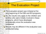 the evaluation project