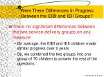 were there differences in progress between the eibi and ieii groups