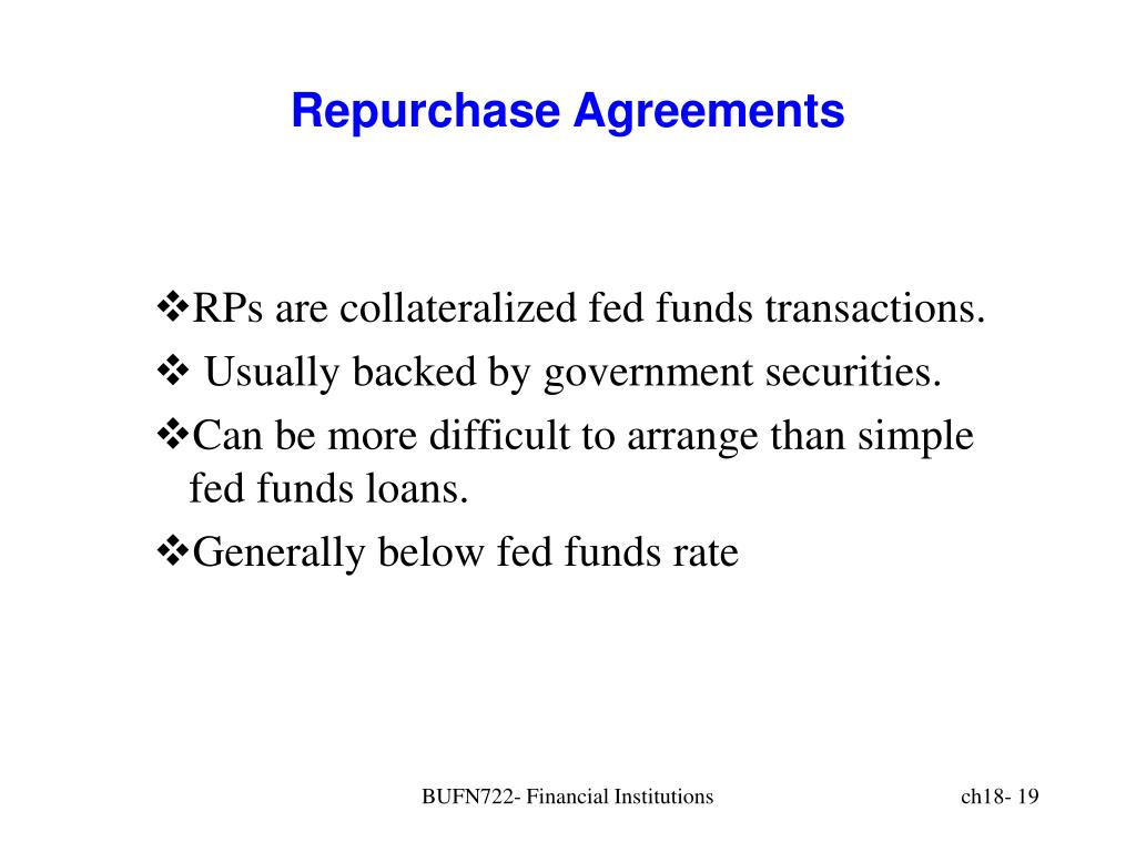 Repurchase Agreements