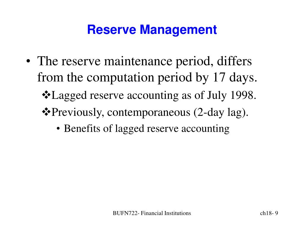 Reserve Management
