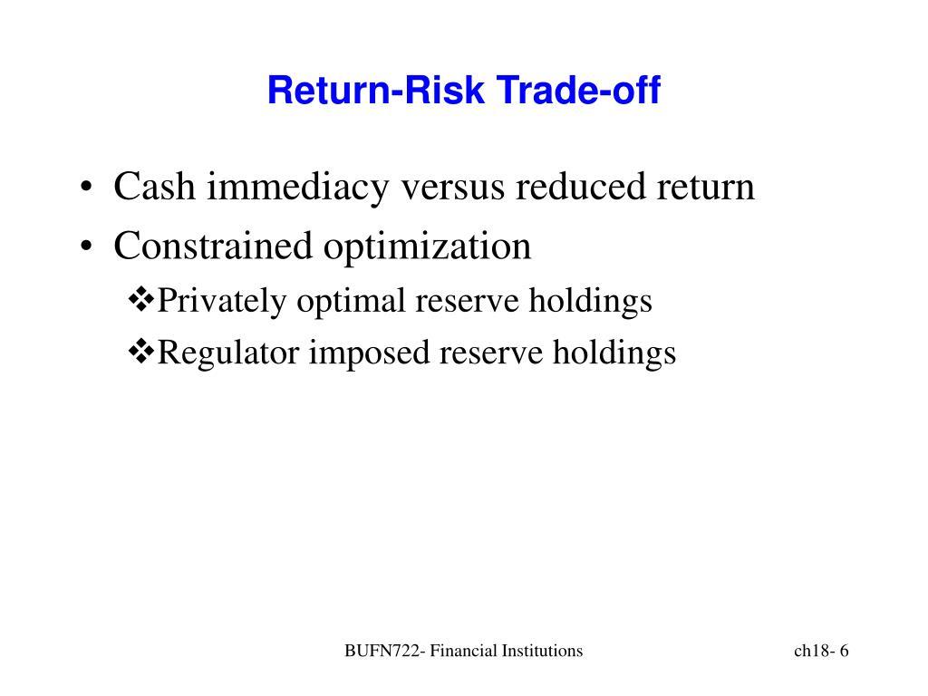 Return-Risk Trade-off