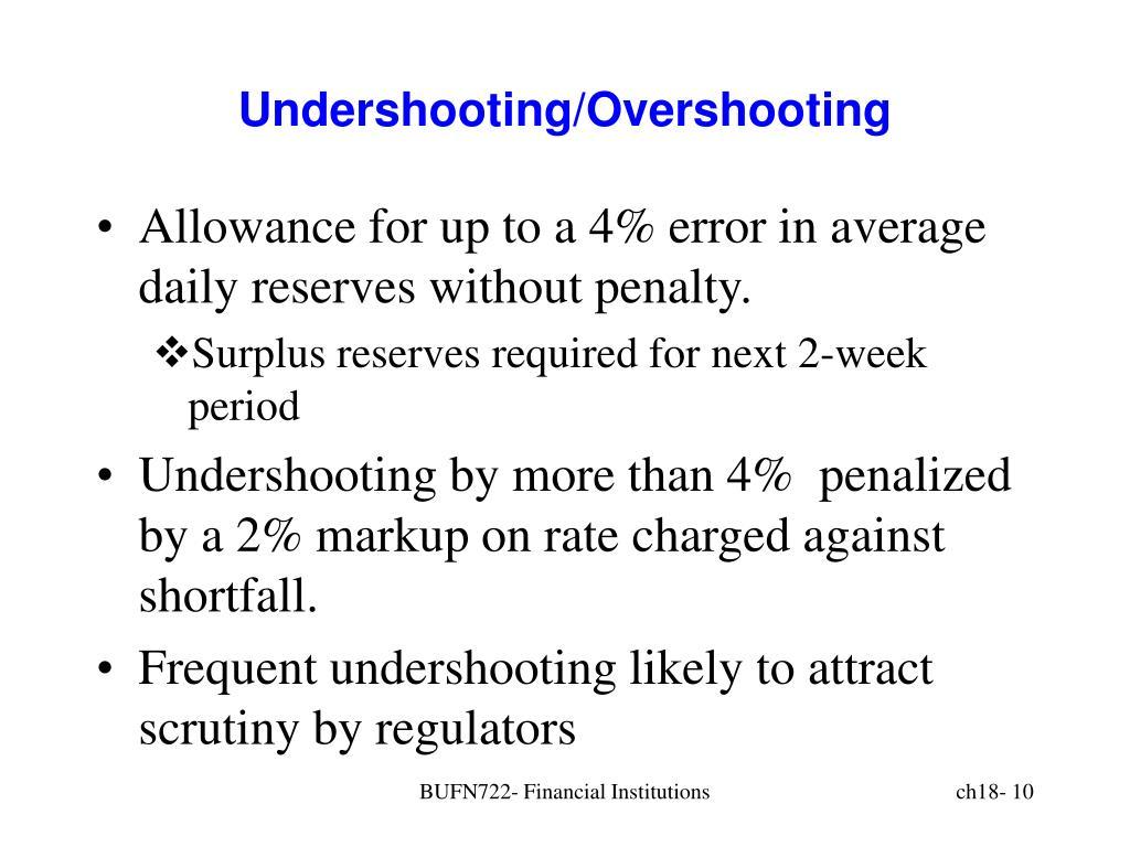Undershooting/Overshooting