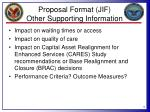 proposal format jif other supporting information