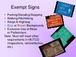 exempt signs