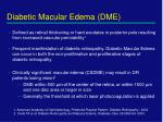 diabetic macular edema dme
